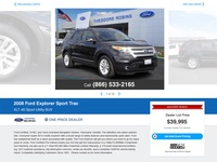 AAA Car Prices Website Vehicle Details Page UI Design