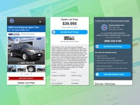 AAA Car Prices Website Vehicle Details Page UI Design - Mobile