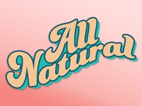 All Natural Exhibition Branding