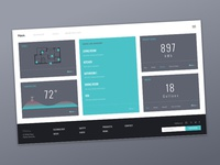 Daily UI 021-100 Days of UI: Home Monitoring Dashboard Exported