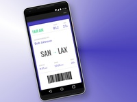 Daily UI 024-100 Days of UI: Boarding Pass
