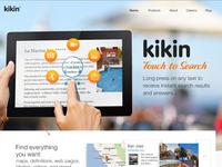 kikin homepage wip