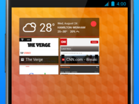 Weather & favorite sites widget