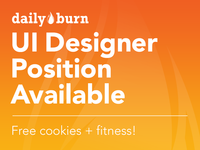 Dailyburn UI Designer Position Available