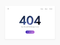 Daily UI 008 : 404 page
