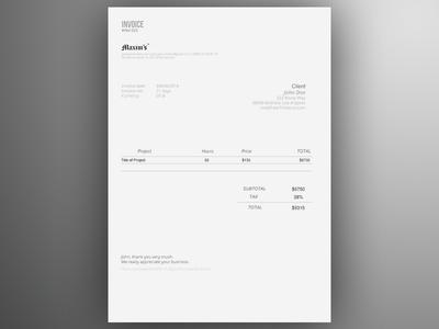 Invoice Template AI | Freebie