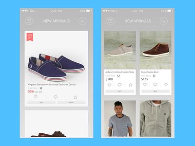 iOS UI Kit   Freebie  ios iphone shop app design flat icons