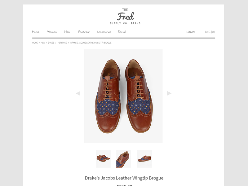 Online Store Web Design PSD | Freebie ui web design store e-commerce shop fashion website flat max