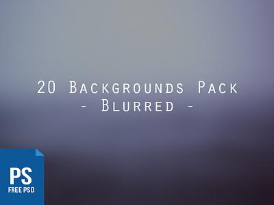 20 Blurred Backgrounds Pack ui free website freebie psd resource photoshop background blurred