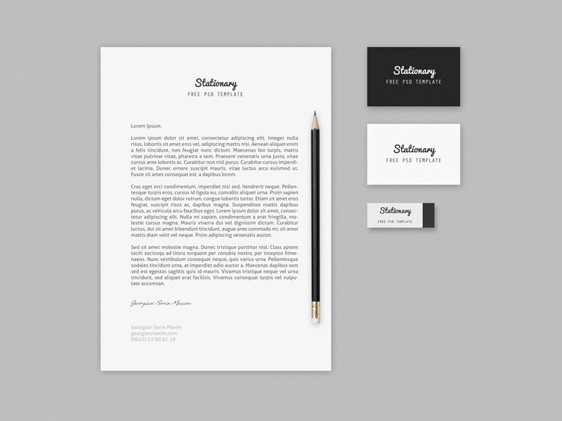 Branding / Stationary Mock-up Template psd freebie free download mock-up photoshop branding business card identity template