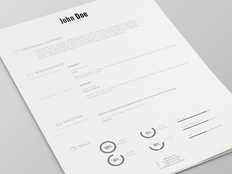 Resume Template Version 2 | Freebie | Free AI resume template ai vector icons flat free freebie resource download illustrator