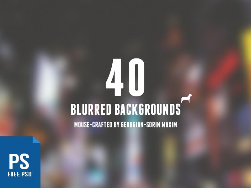 40 Blurred Backgrounds | Mega-Pack ui website freebie backgrounds blurred free resource