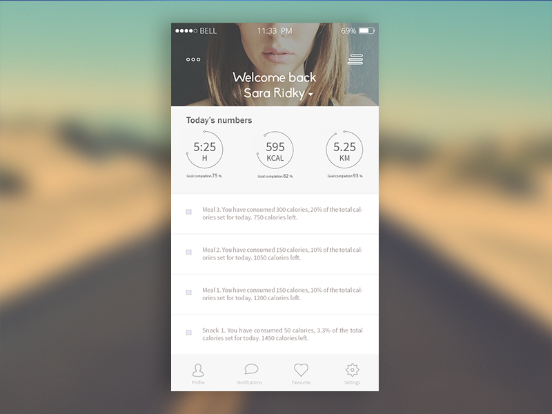 Fitness/Lifestyle App Concept ios iphone fitness exercise life calories app design icons