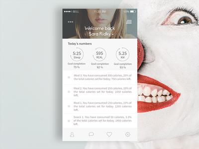 Fitness/Lifestyle App Concept | Version 2