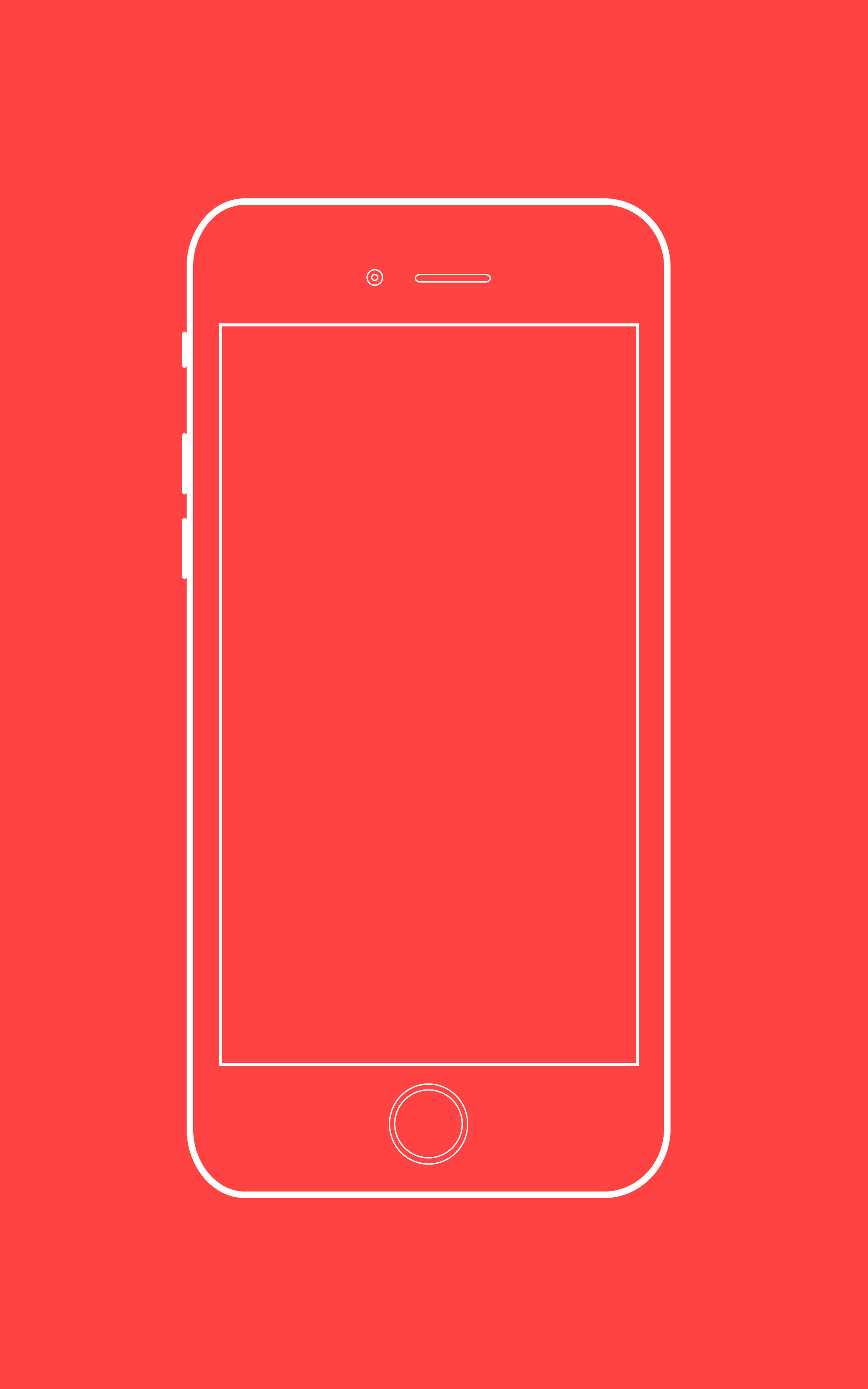 Iphone6 mock up sketch by georgian sorin maxim