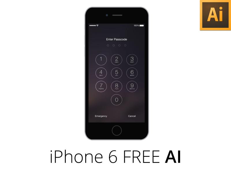 iPhone 6 Flat + Sketch / Freebie AI by Georgian-Sorin Maxim - Dribbble