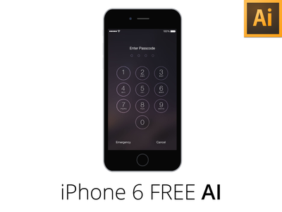 iPhone 6 Flat + Sketch / Freebie AI freebie ai illustrator iphone 6 ios 8 free download phone apple mockup