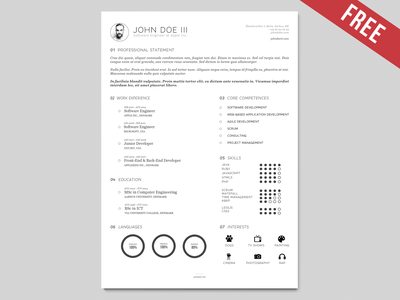 AI Resume Template   Version III  template version resume ai illustrator vector cv curriculum vitae freebie free download
