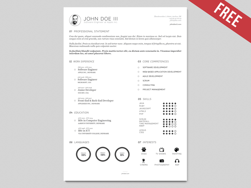 AI Resume Template | Version III by Georgian-Sorin Maxim - Dribbble
