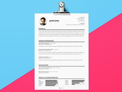 Resume Template | Freebie PSD elegant photoshop freebie psd template resume