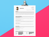 Resume Template | Freebie PSD