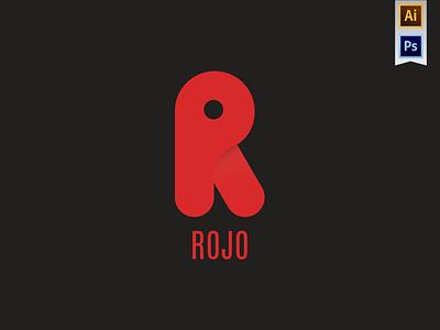 Rojo / R logo logotype photoshop illustrator design letter experiment identity branding logo