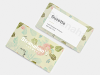 Stranahan's Flowers business cards
