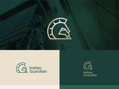 Logo Concept for Indian Guardian minimal logodesign illustration spartan identity logo branding illustrator advocate lawyer indian