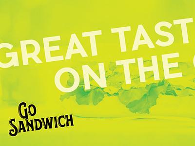 Go Sandwich Logo sandwich logo food logo logo design logotype branding identity design typography sandwich