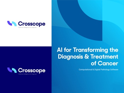 Crosscope Digital Pathology Logo Design healthcare logo illustrator identity design flat minimal brand designer brand identity ai logo logotype logo design logodesign logo branding