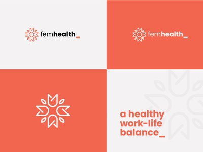 Female healthcare Logo + Brand Element | Ensemble illustrator shape logo minimal logo flat logo brand identity branding health logo feminine logo ensemble logo mark logo design