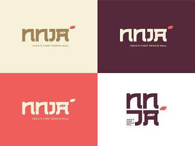 NNJA Logo | Japanese Logo | Type typography logotype logo logodesign flat minimal branding