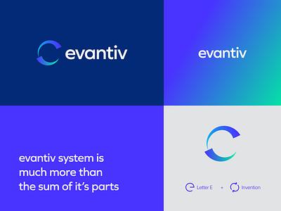 Unused Evantiv Logo Proposal flat logo illustrator logo mark corporate logo round logo logotype minimal logo branding logo design