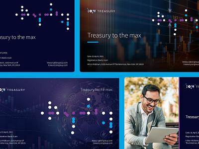 Snippet of ION Treasury Invite Design illustrator invite graphic design branding design