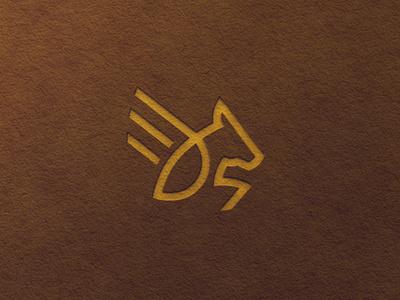 Pegasus Logo Mark identity horse shape line logo horse logo pegasus logo illustrator flat logodesign logo monogram logo mark minimal branding
