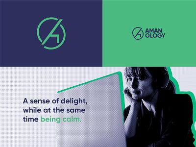 Amanology Brand Strategy tech logo amanology logo mark a logo illustrator flat logo logotype logodesign minimal branding