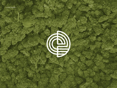 ED Monogram | Parallel Lines | Logo Mark circular parallel lines round logo cbd logo letter e distribution hemp logo ed monogram flat logo logodesign illustrator minimal branding graphic design