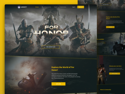 For Honor Landing Page Re-Design