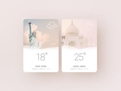 Minimal Weather App pink addon widget app web minimal weather