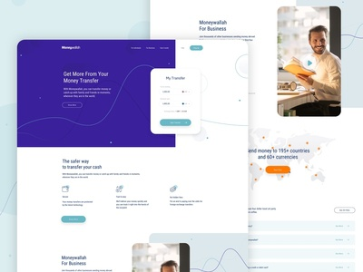 moneyWallah Homepage homepage ui visual design