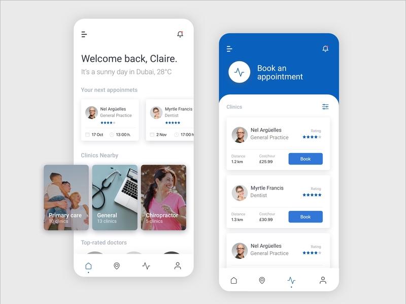 Medical App ui design medical app mobile ui