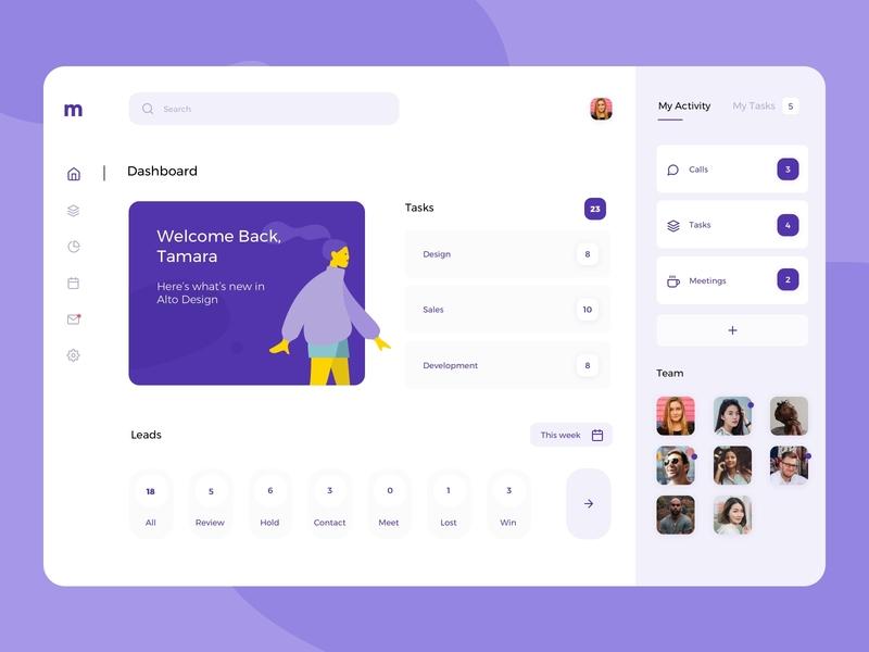 Dashboard visual design management dashboard desktop uidesign