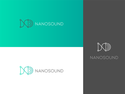 Nanosound logo nanotechnology technology green icon marketing logo branding vector illustrator graphic design design