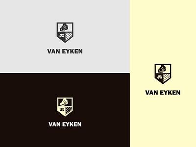Van Eyken logo beer branding consumables beverage beer logo beer icon marketing logo branding vector illustrator graphic design design