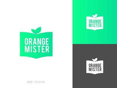 Orange mister logo goodbrief marketing vector illustrator design logo branding graphic design