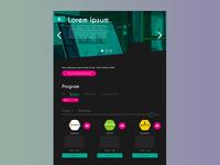 Student event concept website