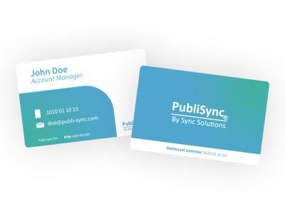 PubliSync Business card concept