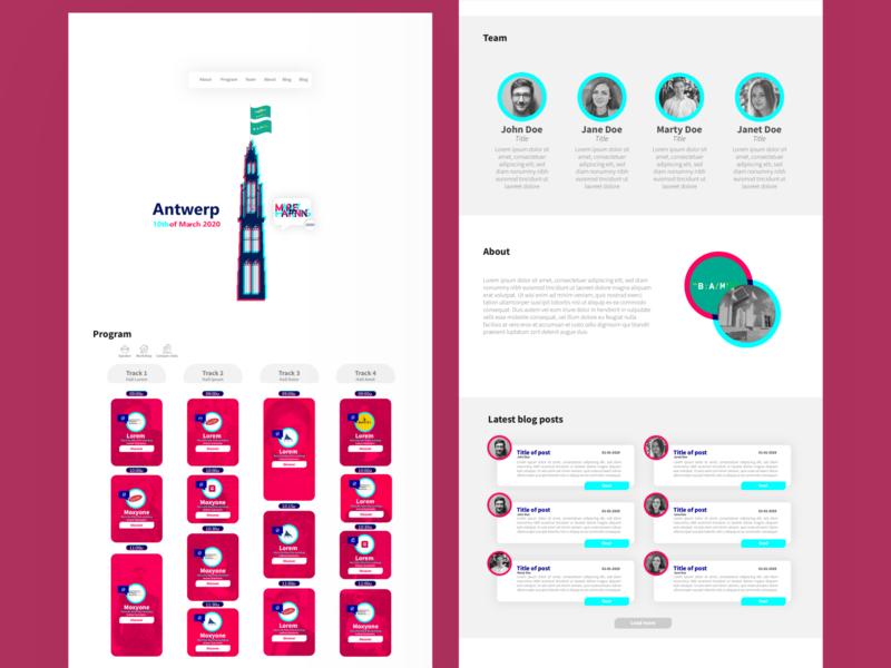 MarketHappening 2020 onepager concept webdesign webdeveloper ui marketing branding logo vector graphic design design illustrator