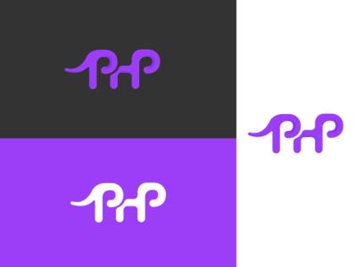 PHP logo redesign programming language php marketing branding logo vector graphic design design illustrator