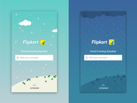 Weather themed homepage